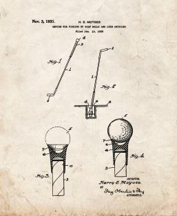 Device for Picking Up Golf Balls and Like Articles Patent Print
