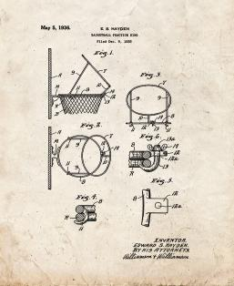 Basketball Practice Ring Patent Print