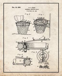 Basketball Practice Device Patent Print
