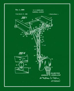 Basketball Backstop Patent Print