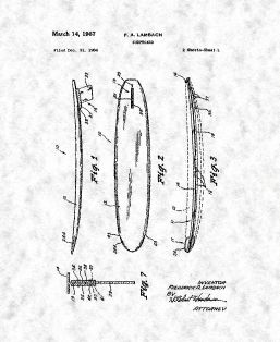 Surfboard Patent Print