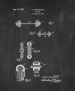 Barbell Patent Print