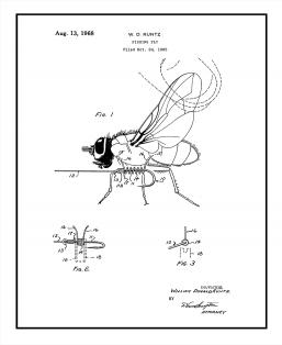 Fishing Fly Patent Print