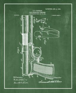 Gas-operated Firearm Patent Print