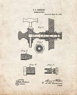 Beer Faucets Patent Print