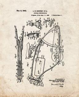 Bicycle Construction Patent Print