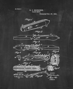 Clasp-Knife Patent Print