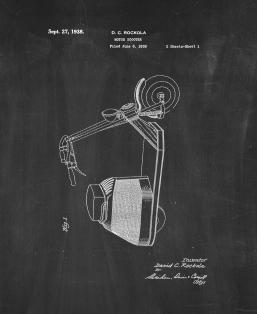 Motor Scooter Patent Print