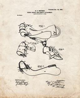 Horse Riding-saddle And Saddle Attachment Patent Print