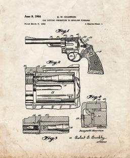 Gas Cutting Prevention In Revolver Firearms Patent Print