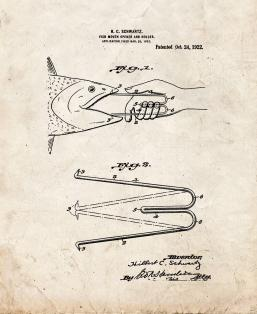Fish-mouth Opener and Holder Patent Print
