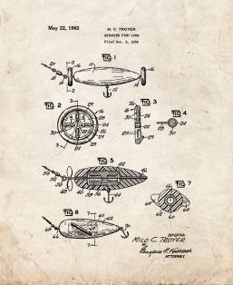 Animated Fish Lure Patent Print