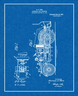 Automobile Fire Apparatus Patent Print