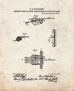 Combined Seed-Planter Patent Print