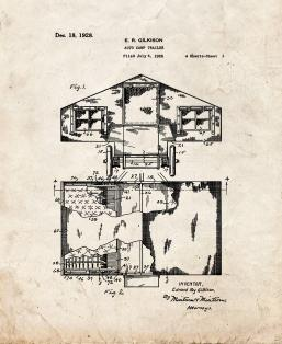 Auto Camp Trailer Patent Print