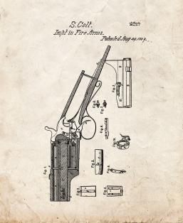 Improvement In firearms And In The apparatus Used Therewith Patent Print