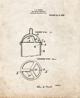 Baby Bottle Protector Patent Print