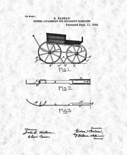 Baby Carriage Patent Print