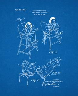 Baby Highchair Patent Print