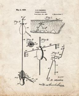 Fishing Apparatus Patent Print