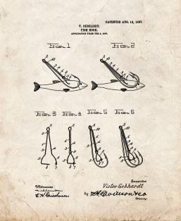 Fish-hook Patent Print