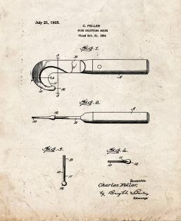 Fish-splitting Knife Patent Print