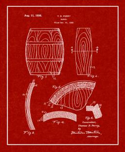 Whiskey Barrel Patent Print