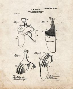Horn for Riding-saddles Patent Print