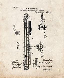 Implement For Cleaning Gun Barrels Patent Print