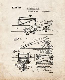 Automobile Towing Device Patent Print