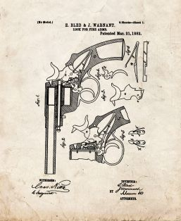 Lock For Fire Arms Patent Print