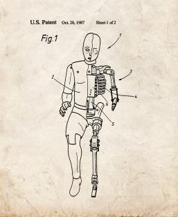 Car Crash Test Dummy Patent Print