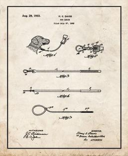Dog Leash Patent Print