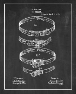 Dog Collar Patent Print