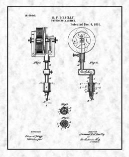 Tattooing Machine Patent Print