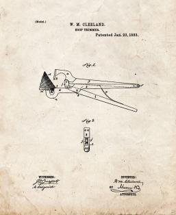 Hoof Trimmers Patent Print