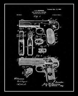 Gas Operated Firearm Patent Print
