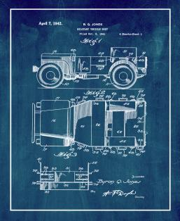Military Vehicle Body Patent Print