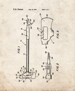 Combination Fire Tool Patent Print
