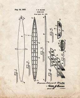 Water Sled Patent Print