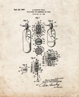 Flow Signal For Compressed Gas Tanks Patent Print