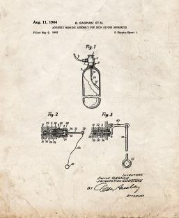 Acoustic Warning Assembly For Skin Diving Apparatus Patent Print
