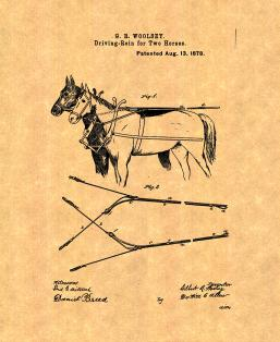Driving-Reins For Two Horses Patent Print