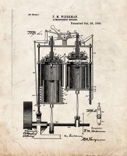 Atmospheric Engine Patent Print