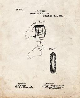 Package Of Toilet-Paper Patent Print
