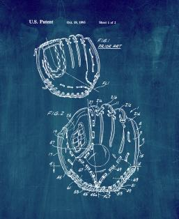 Baseball Or Softball Glove Constructed To Facilitate Closure Patent Print