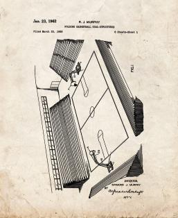 Folding Basketball Goal-structures Patent Print