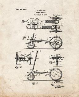 Scooter Vehicle Patent Print