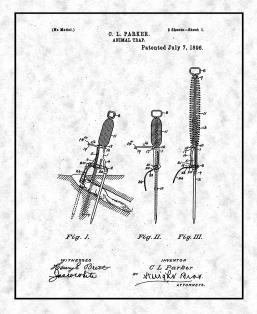 Animal Trap Patent Print