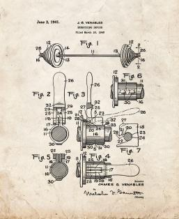 Exercising Device Patent Print